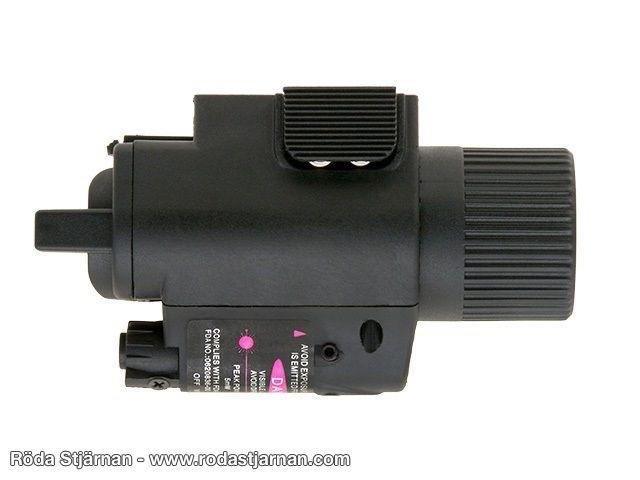 Vapenlampa LaserLampa med batteri Röda Stjärnan Allt